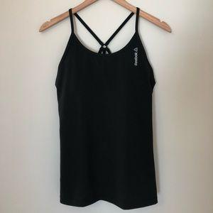 Reebok black workout tank top